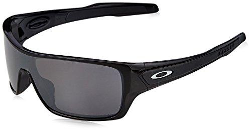Oakley Men's OO9307 Turbine Rotor Rectangular Sunglasses, Polished Black/Prizm Black Polarized, 32 mm