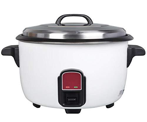 JSHFD Edelstahl elektrischer Reiskocher 25L Warmhaltefunktion, von Premium-Qualität Innentopf, mit Spachtel, Reis for bis zu 50 Personen, geeignet for Hotel, Gastronomie, Schulkantine