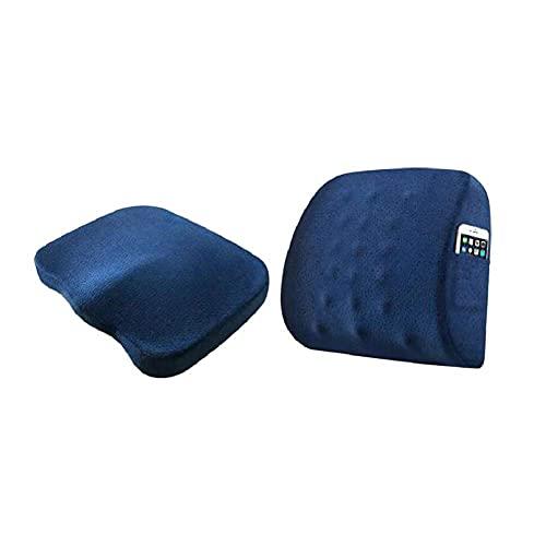 Worth having - Los cojines de asiento de espuma de memoria y soporte lumbar proporcionan alivio for el dolor de espalda baja ciática almohada de asiento ortopédico for silla de oficina for silla de si