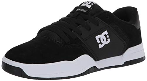 DC Men's Central Skate Shoe, Black/White, 11 D M US