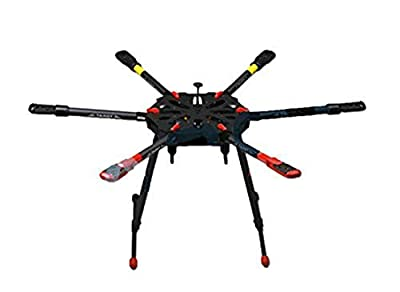 Tarot TL6X001 X6 6 Axis Umbrella Carbon Fiber Airframe Foldable Hexacopter Frame Kit Electronic Retractable Landing Skid for DIY RC FPV Drone by Tarot