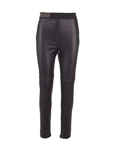 Luxury Fashion | Fendi Dames FPP755VQPF0GME Zwart Leer Leggings | Lente-zomer 20