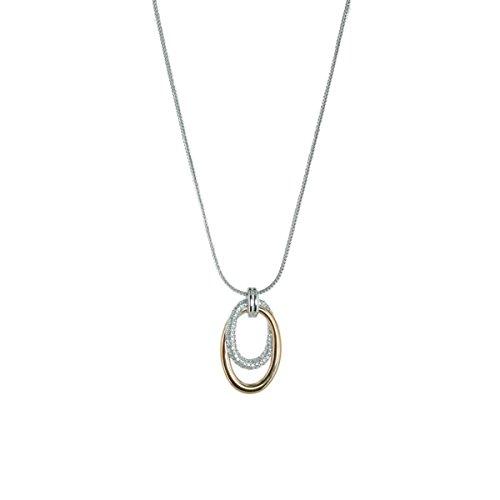 ESPRIT Collection Mujeres Collar 925plata plata/oro rosa Orea elnl92916b420