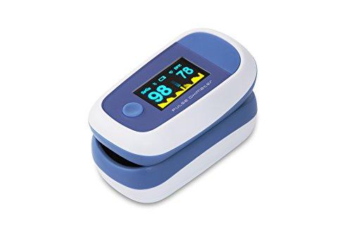 CYBERNOVA Dedo oxímetro de pulso con el color OLED Display-% SpO2 (saturación de oxígeno de la sangre) y monitor del ritmo...