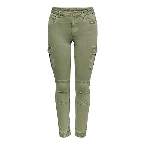 ONLY Damen 15170889 Hose, Grün (Oil Green Oil Green), 38W/32L