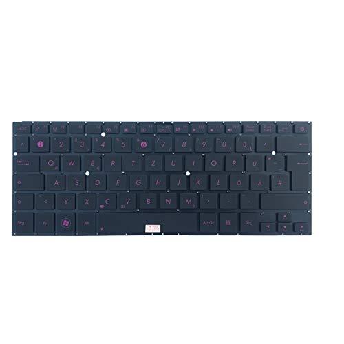 Tastiera Tedesca, Senza Illuminazione, Colore: Nero/Rosa, per ASUS ZenBook UX31E-RY012V, UX31E-RY029V, UX31LA-R5031H, UX31LA-R5080H