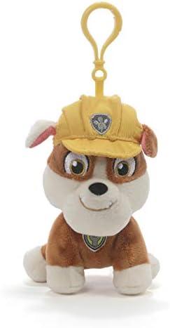 GUND Paw Patrol Rubble Backpack Clip Plush Stuffed Animal Dog Yellow 4 product image