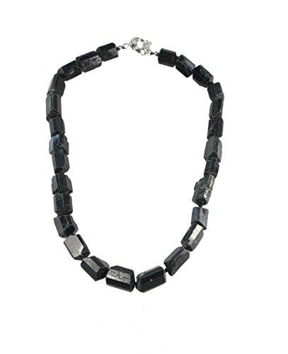 Lebensquelle Plus - Collar de turmalina y turmalina (48 cm), color negr