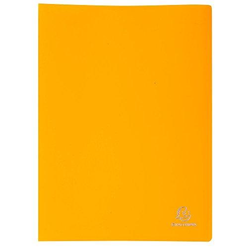 Exacompta 8539E - Carpeta de 30 fundas de PVC, A4, color amarillo