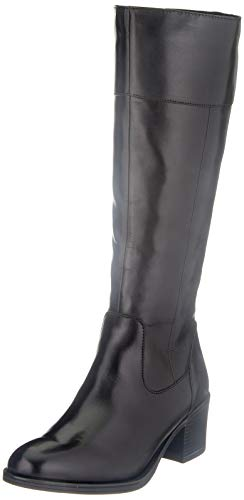 CAPRICE Damen 9-9-25551-25 Kniehohe Stiefel, Black Nappa, 41 EU