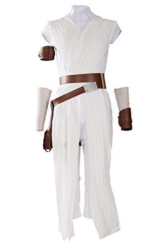 Women's Rey Cosplay Costume Halloween Cosplay Costume Tunic Outfit (Medium, Rey Cosplay Costume)