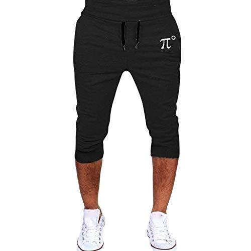 Xmiral Uomo Pantaloncini Sportivi da Corsa Pantaloni Hip-Hop Pantaloni Sportivi Casual (XL,1Nero)