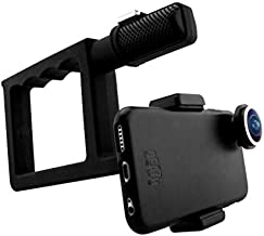 Death Lens Grip 2.0 VX Handle – Counter Balance - Stabilize footage, Go Pro Mount, Rubber Coated Grip, iPhone, Samsung Galaxy and Other Smartphones