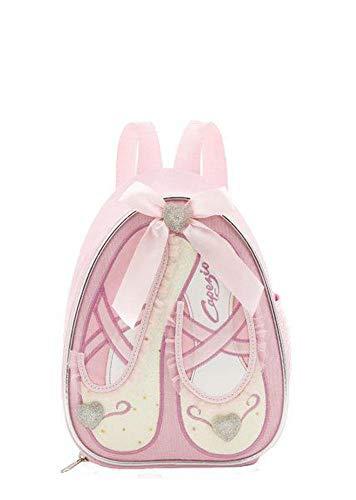 Mochila pequeña infantil con diseño de zapatos de ballet (B122C), color rosa o lila (rosa) de Capezio
