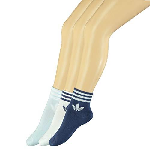 adidas Tref ANK Sck HC Ankle Socks, Hombre, White/Sky Tint/Tech Indigo, 3942
