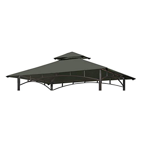 LKOPYUo Gazebo Cover Canopy Top Replacement, 2 Tier Outdoor Waterproof Sunshade Pavilion Cover, Canopy Top Patio Pavilion Cover Sunshade for BBQ,Garden,Party (10 * 10Ft) (Color : Gray)