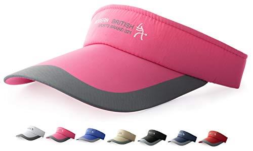 HYSENM HYSENM Visor Einheitsgröße Unisex Cap mit Klettverschluss Einstellbar Anti-UV für Reisen Radsport Tinnesspielen Kappe, Rosa