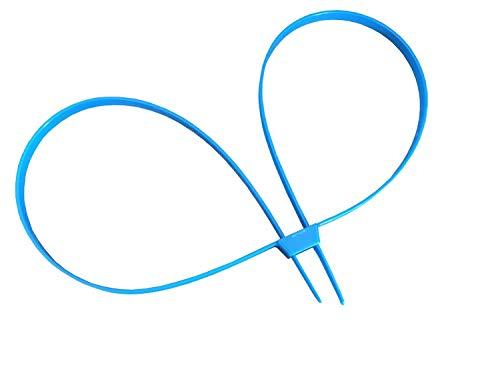 1 x Handschellen Kabelbinder blau 900 x 8mm