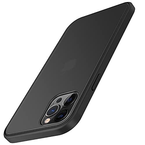 TENDLIN Cover iPhone 12 e Cover iPhone 12 PRO Rigido Opaco Traslucido Resistente Custodia per iPhone 12 PRO e iPhone 12 - Nero