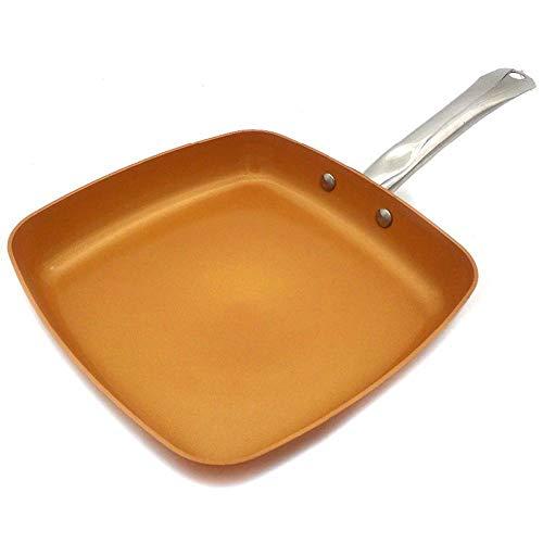 anruo Koperen koekenpan met antiaanbaklaag met keramische coating en inductiekookplaat en vaatwasser