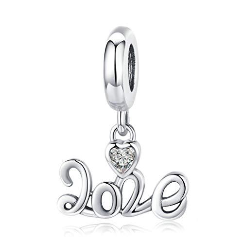 Shefii 2020 Bracelet en argent sterling avec pendentif Nouvel An