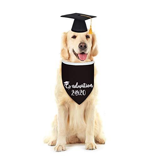 NACOCO Hundeanzug 2020 Haustier Kostüm Bandanas mit Hut klein bis groß verstellbar Hund Schal, schwarz