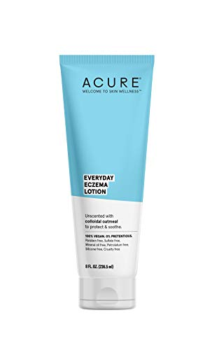 ACURE Everyday Eczema Lotion | 100% Vegan |For Sensitive & Easily Irritated Skin | Fragrance-F ree | 2% Colloidal Oatmeal & Cocoa Butter - Nourishes, Calms and Hydrates | 8 Fl Oz