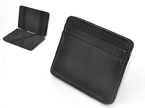Patty Both Slim Pocket Wallet with Magic Money Clip & Card Holders (Black)