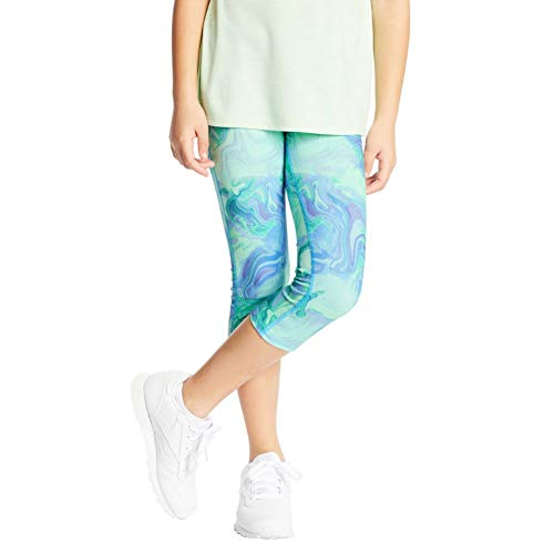 C9 Champion Girls' Capri Leggings, Multi Marble Green, L