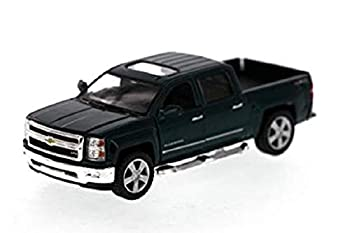 KiNSMART 2014 Chevy Silverado Pick-up Truck Green 5381D - 1/46 Scale Diecast Model Toy Car