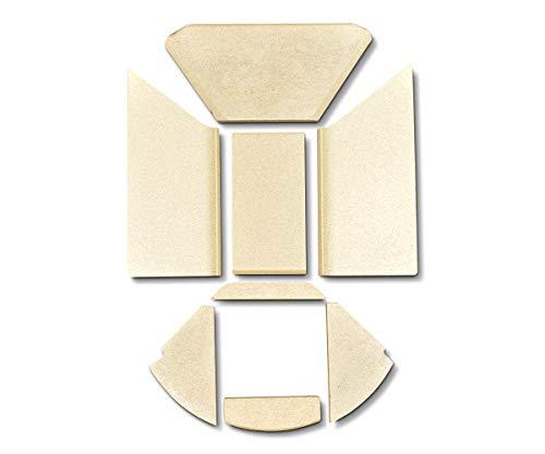 Feuerraumauskleidung A für Skantherm Emotion M Kaminöfen - Vermiculite - 8-teilig
