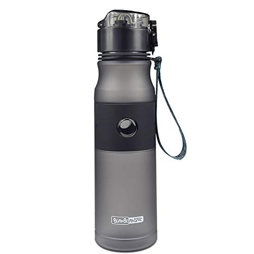 HRRH Botella de Agua atlética, Botella con Tapa a Prueba de Fugas Tapa Superior: Debe tenerla para el Gimnasio