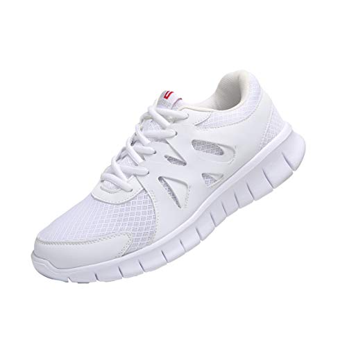 MAIITRIP White Walking Shoes for Men,Gym Athletic Sports Shoes for Men,Best Fashion Nonslip Casual Non Slip Wort Workout Training Tennis Running Sneakers,Size 11