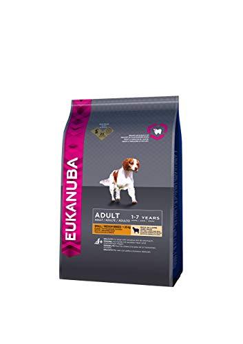 Eukanuba Adult - Alimento Completo per Cani Adulti di Taglia Piccola e Media (1-7 Anni), Crocchette con Agnello e Riso - 1 Kg