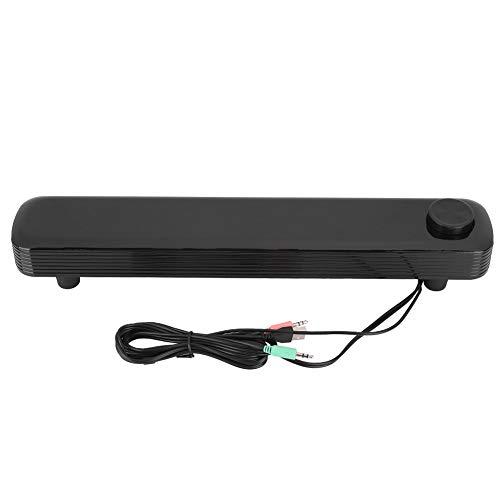 PUSOKEI Barra de Sonido, Barra de Sonido Altavoz Bluetooth 5.0 con Cable e inalámbrico para TV/Escritorio/portátil, Altavoz Bluetooth de subwoofer de Dos Canales(Negro)