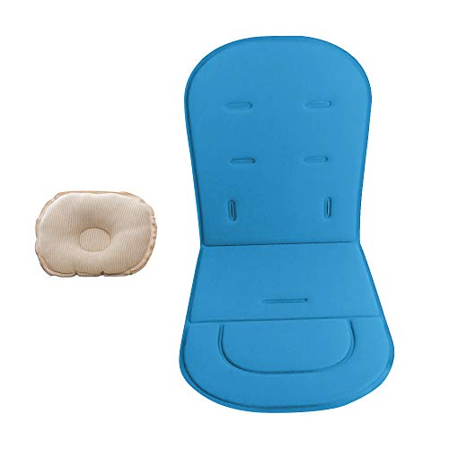 Fodera per cuscino per passeggino con cuscino per bambino Passeggini Tappetino per auto Tappeto per passeggino universale (Blue)