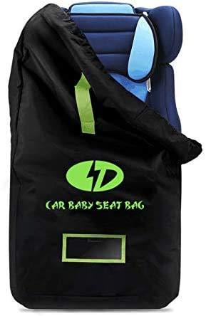 Kindersitz Tasche - Standard Doppel XL Kinderwagen Transporttaschen Tragetasche Faltbar mit Schulterriemen für Flughafen, Bahnhof– Einfach Reisen und Geld Sparen - Robuste Kindersitz Transporttasche