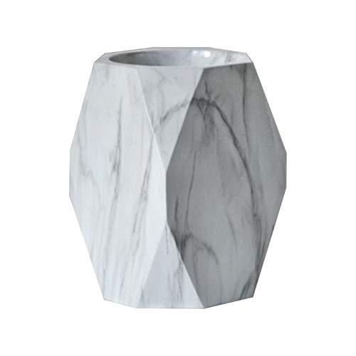 CESULIS Estuche de escritorio de mármol nórdico para lápices, estuche de maquillaje, caja de almacenamiento de pincel/lápiz (color : M)