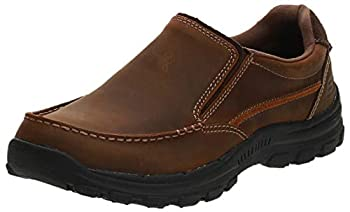 Skechers Men s Braver-Rayland Slip-On Loafer Dark Brown Leather 12 M US