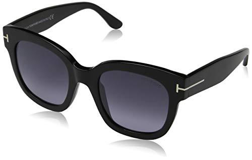 Tom Ford FT0613 01C Shiny Black Beatrix Square Sunglasses Lens Category 3 Lens,...
