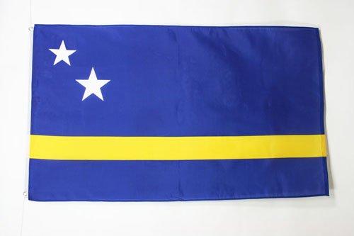 AZ FLAG Flagge CURAÇAO 150x90cm - HOLLÄNDISCHE Fahne 90 x 150 cm - flaggen Top Qualität