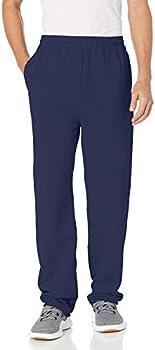 Hanes Mens EcoSmart Open Leg Fleece Pant w/Pockets (S/M/L/XL/2X) (Navy)