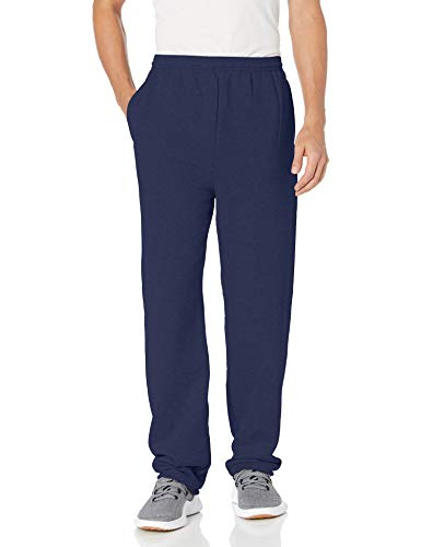 Hanes mens EcoSmart Fleece Sweatpant with Pocket Navy L