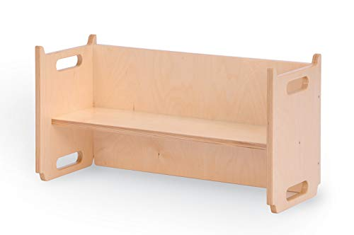 Vinkelau Stapelbank / Material: Birke Multiplex / Oberfläche lackiert / Breite: 67 cm - Höhe: 35 cm - Tiefe: 26 cm / Made in Germany