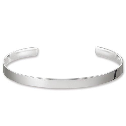 THOMAS SABO Damen-Armreif Edestahl Love Cuff 925 Silber 9 cm - AR087-001-12-XL