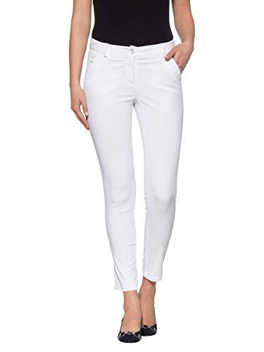 Alba Moda Damen Hose Weiß 40 Baumwolle