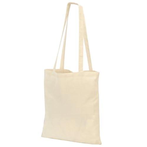 Shugon, borsa per la spesa Guildford in cotone, a tracolla, con manico lungo 80cm Off-White Taglia unica