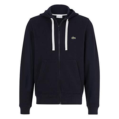 Lacoste Herren SH2165 Kapuzenjacke, Sweater Sweatshirt Kapuzenpullover Pullover Pulli Kapuze Reißverschluss Freizeit Sport,Abysm (HDE),L (5)