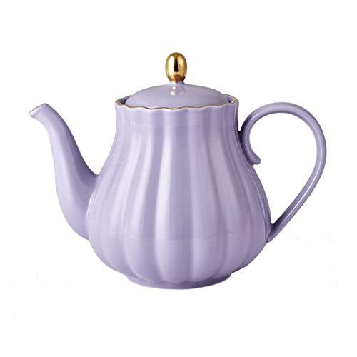 Cafetière Vone Ensemble de thé en céramique Ensemble de thé d'après-midi Main Rush Coffee Pot Théière Coffee Pot (Couleur : Purple)