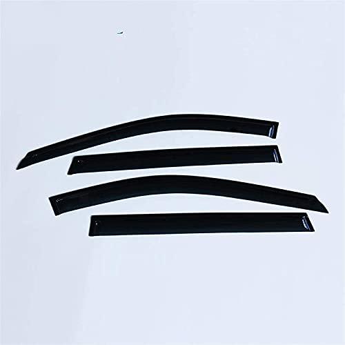 4 piezas Deflectores de Viento para Nissan Xtrail X-trail T32 Rouge 2014-2019, Cortavientos para ventanilla de coche Protector De Lluvia Visera modelado Accesorios